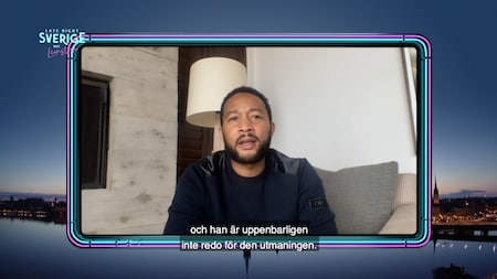 John Legend i TV4 - sågar USA:s president Donald Trump