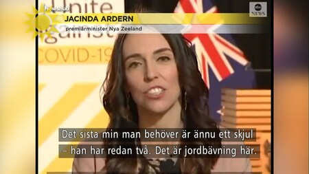 Nya Zeelands premiärminister i tv-intervju mitt under jordskalv