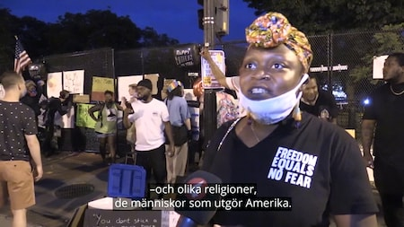 "Black Lives Matter-demonstrant: ""Det har gått bra, folk står enade"""
