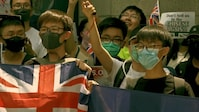 Hongkong-demonstranterna sätter press på Storbritannien
